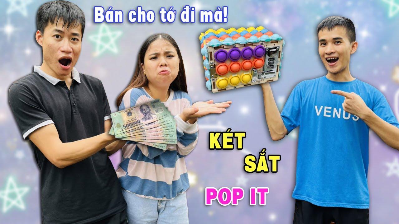 Su Hào phục hồi két sắt mini khóa số bằng pop it cực đẹp