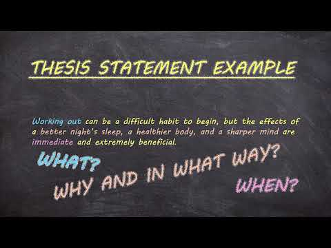 Thesis Statements In 3 Minutes (Tutor Talks - Building An Essay)