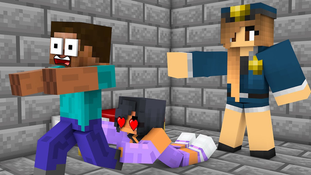 Monster School : BABY HEROBRINE AND APHMAU PRISON ESCAPE CHALLENGE - Minecraft Animation