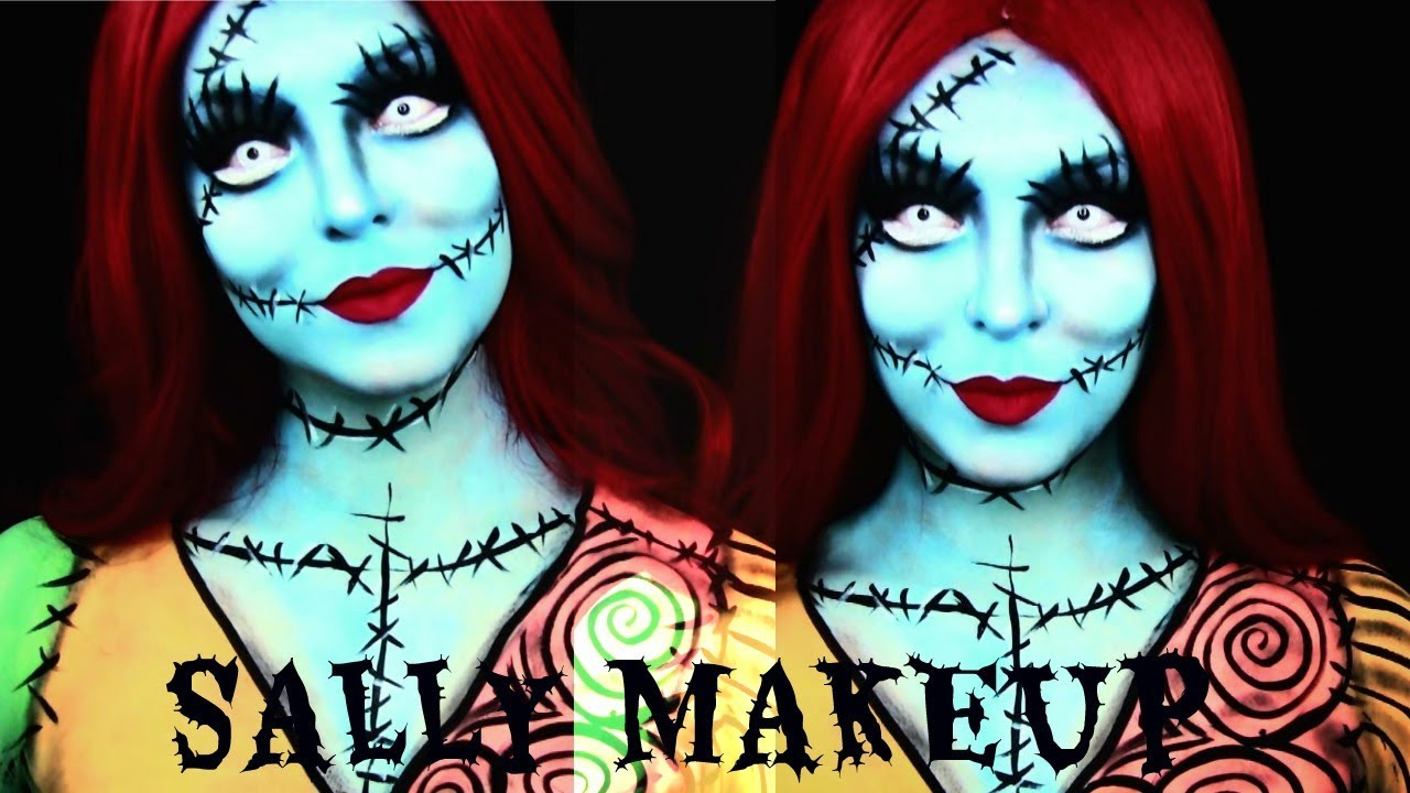 Christmas Halloween Makeup.Sally Nightmare Before Christmas Halloween Makeup Tutorial