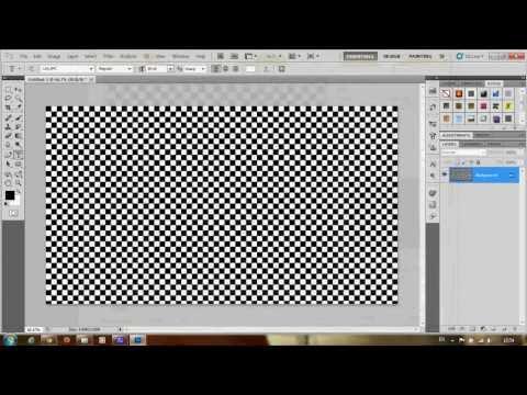 วิธีสร้างภาพตารางหมากฮอสง่ายๆ | Photoshop CS5