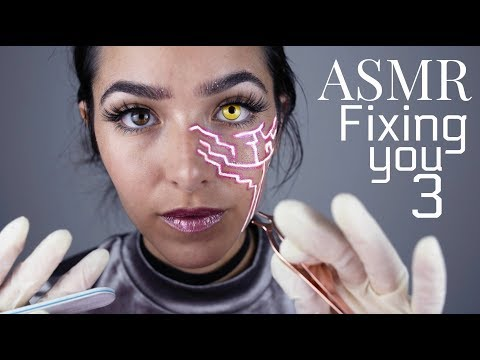 ASMR Fixing You 3 (3DIO: Gloves sounds, Ear cleaning, Face Brushing, Scratching sounds and +
