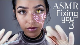 connectYoutube - ASMR Fixing You 3 (3DIO: Gloves sounds, Ear cleaning, Face Brushing, Scratching sounds and +