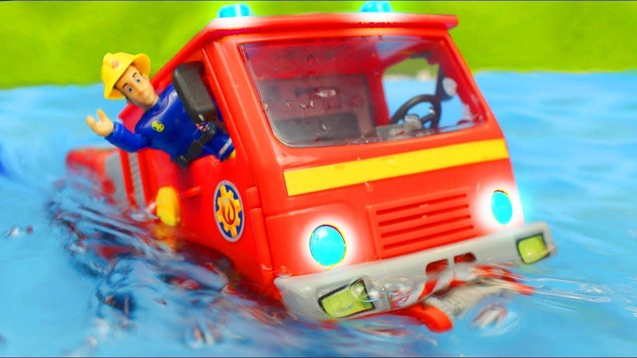 Carrinho de bombeiros - Bombeiro Sam  e carrinhos da patrulha canina para crianças