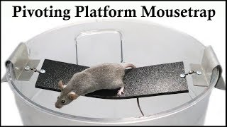 The Pivoting Platform Bucket Mousetrap Patented in 1987. Mousetrap Monday.