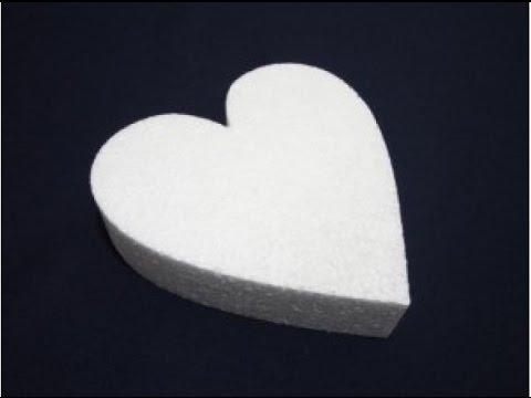 Сердечки из пенопласта