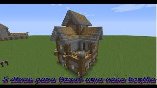 Minecraft 5 dicas para fazer uma casa bonita