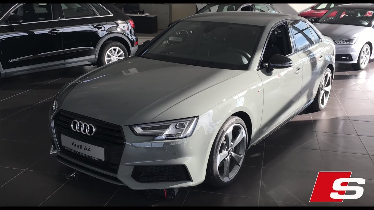 audi a4 s line sport gray 2018 in 4k youtube. Black Bedroom Furniture Sets. Home Design Ideas
