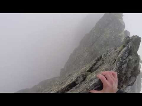 Balancing on the ridge of Nordre Trolltind