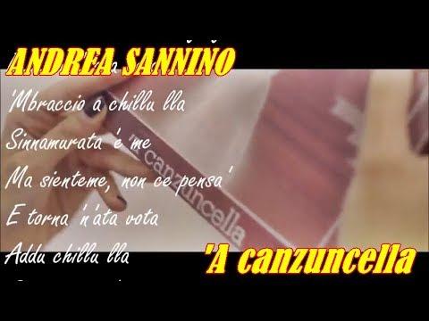 ANDREA SANNINO  'A canzuncella (TESTO SULLO SCHERMO)
