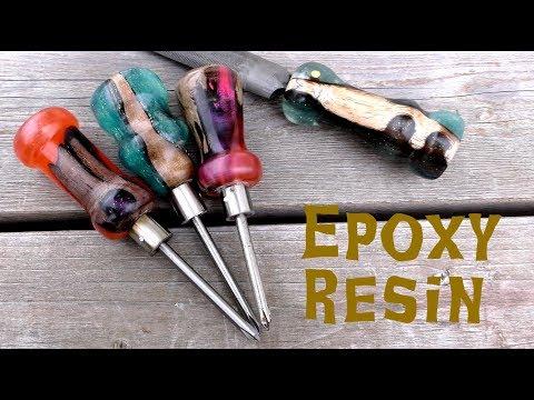 【DIY】レジンと木で工具をカスタム/Epoxy resin & wood tool handles