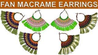 Yelpaze makrome küpe nasıl yapılır (How to make fan macrame earrings)