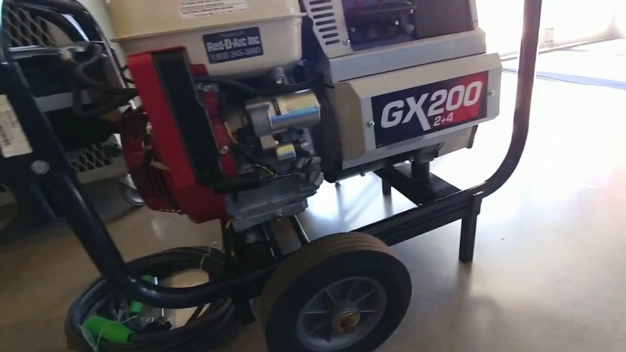 Red-D-Arc GX200 2+4 Gas Engine Welder - YouTube