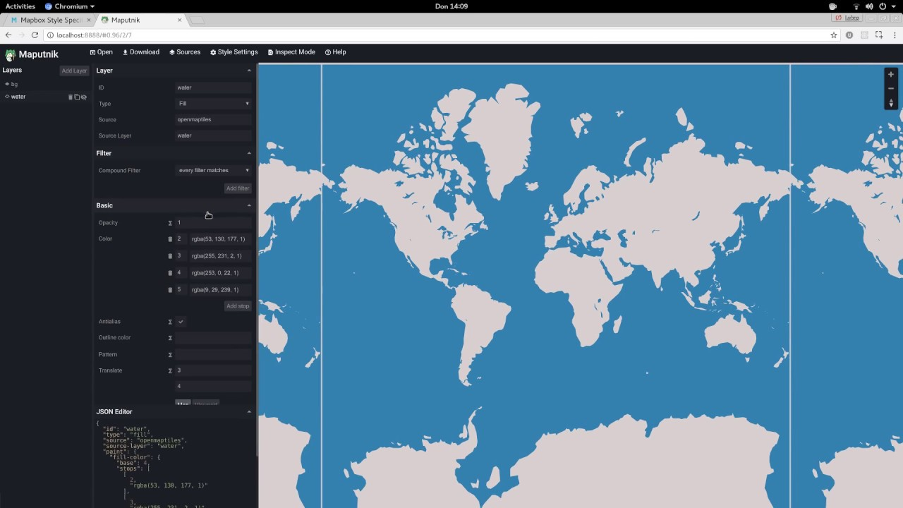 Maputnik - Create Zoom Functions