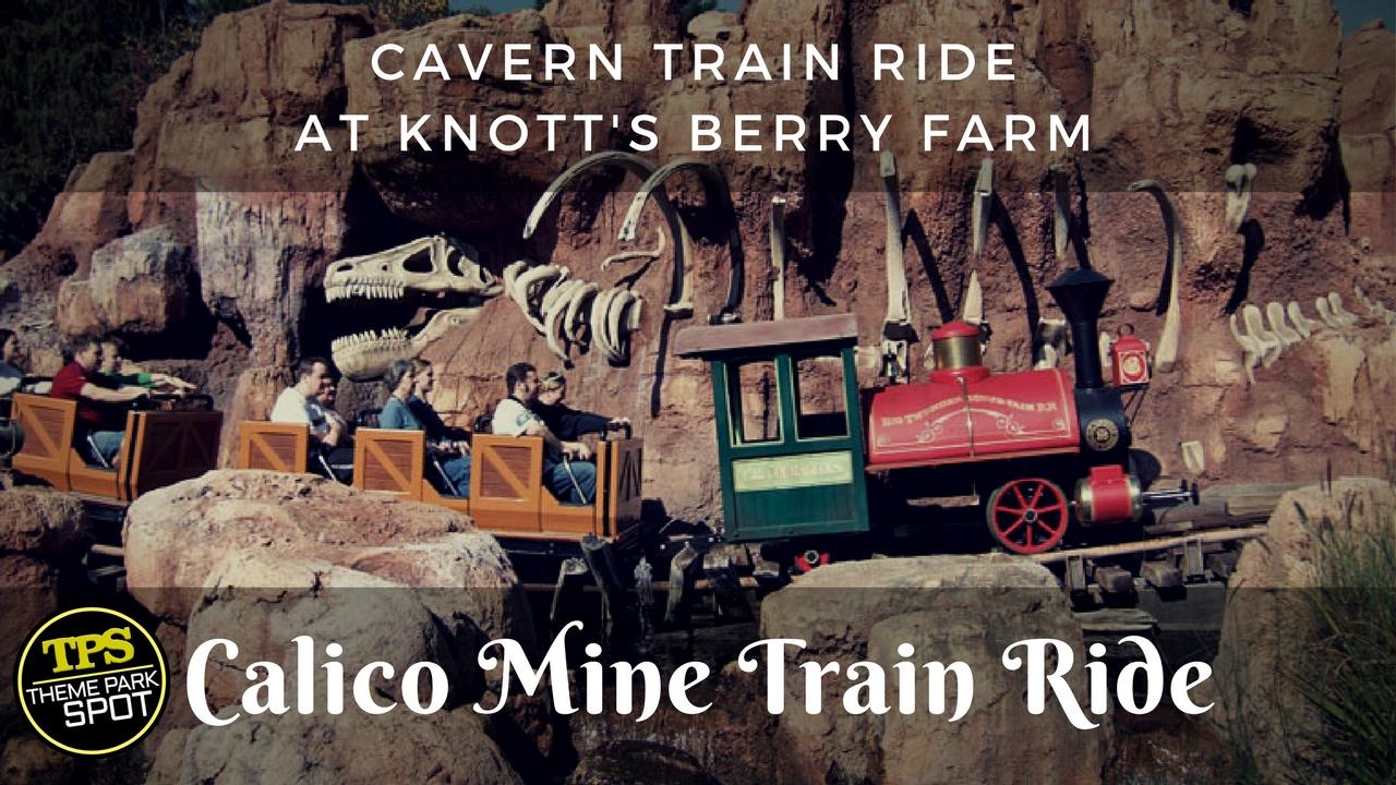 🎡 Calico Mine Train Ride 2017 🌠 Cavern TRAIN RIDE at Knott's Berry Farm  [Theme Park Spot] ✔