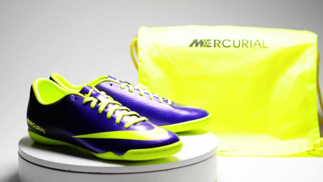 47b115882a7 Nike Mercurial Victory Indoor Giveaway - Electro Purple with Volt - YouTube