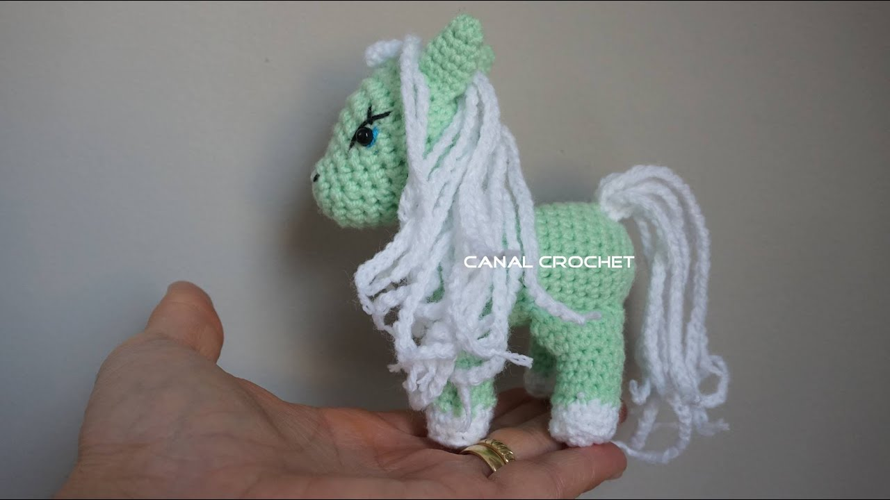 Amigurumi Pony : pony amigurumi tutorial - YouTube