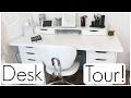 Desk Tour ft. Ikea Alex Drawers! Allisa Rose