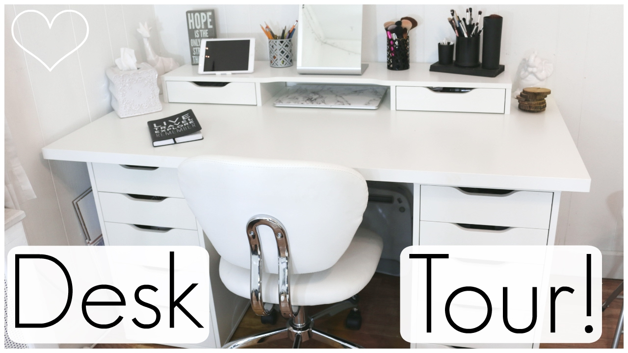 Desk Tour Ft Ikea Alex Drawers Allisa Rose
