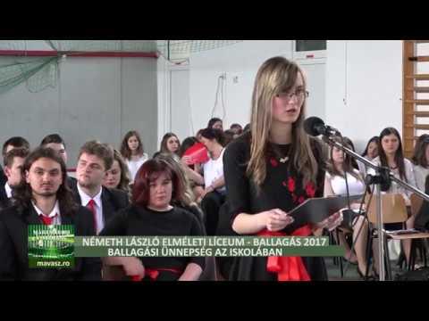 Ballagás 2017 - Németh László Elméleti Líceum, ballagás az iskolában