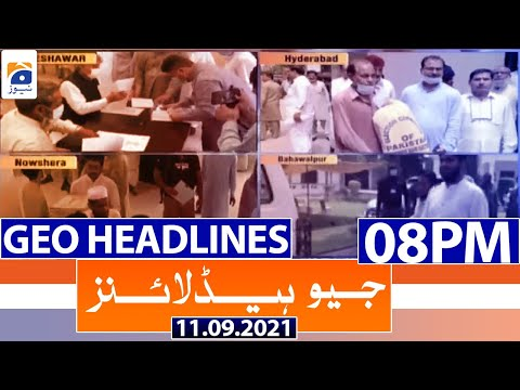 Geo Headlines 08 PM   11th September 2021