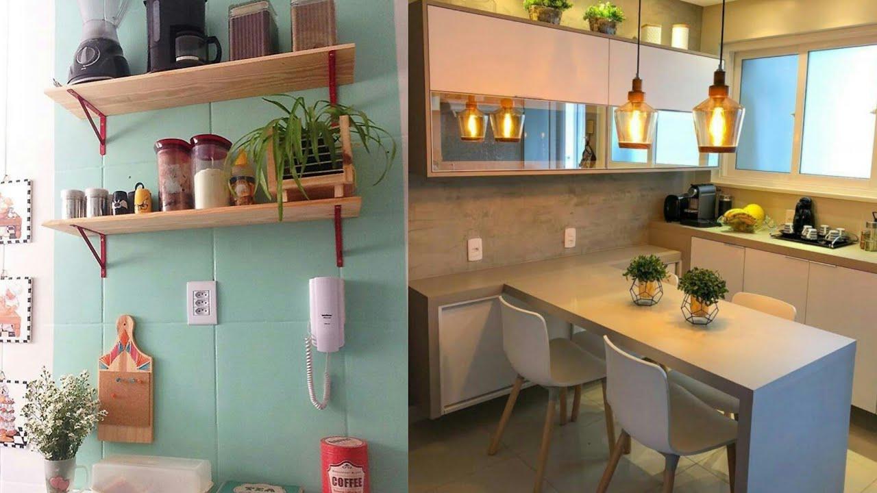 Top 80 ideias para decorar cozinha pequena YouTube -> Decorar Lanchonete Pequena