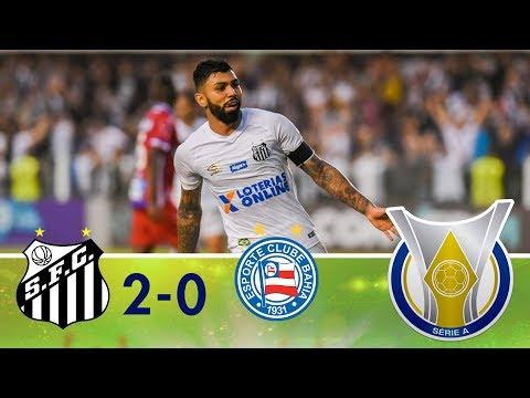 Melhores momentos - Santos 2 x 0 Bahia - Campeonato Brasileiro (25/08/2018)