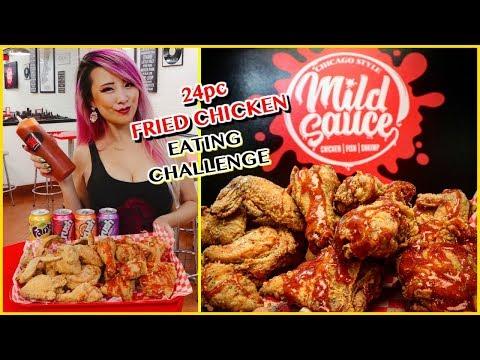 24pcs Fried Chicken Biggest Bucket @ Mild Sauce, LA #RainaisCrazy - Chicago Style Fried Chicken