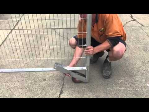 Temporary Fencing Video Sliding Gate Wheel Assembly