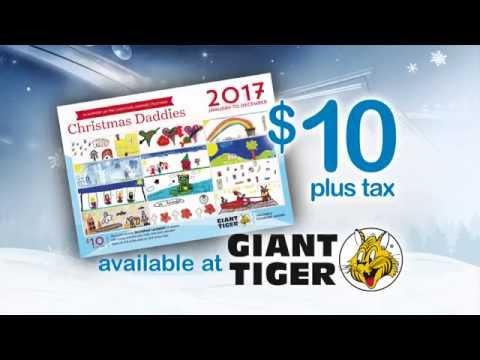 CHRISTMAS DADDIES 2017 Calendars at Giant Tiger