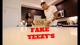 Fake YEEZY 350 Birthday Present Prank!