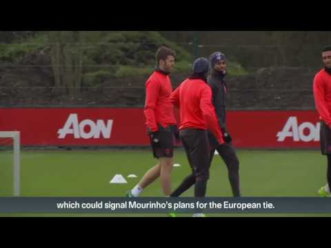 Rooney returns to United training ahead of Europa League clash