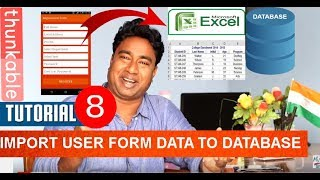 Creating Dynamic Apps to send custom form data to Excel Database ! Thunkable Android Tutorial - 8