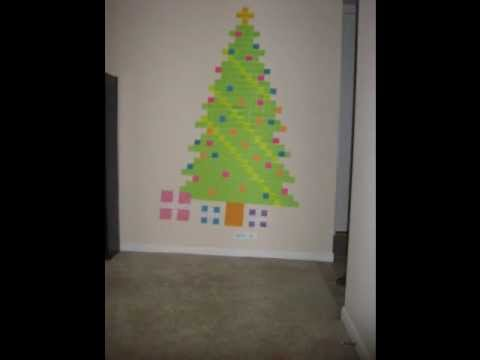 Post It Christmas Tree Animation