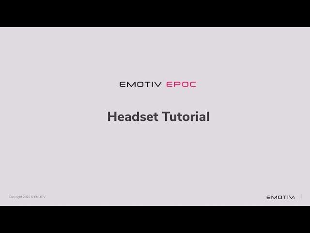 [TUTORIAL] How to setup EMOTIV EPOC headset