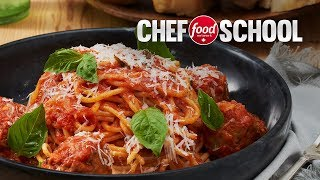 Spaghetti and Meatballs with Veal and Ricotta | Chef School
