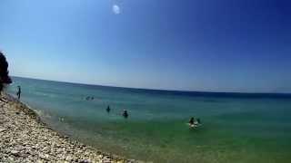 Город-курорт Геленджик, дикий пляж Сосновка(Дикий пляж