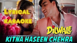 Kitna Haseen Chehra Hindi Karaoke with lyrics l Latest Version l