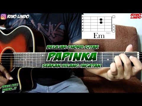 PAPINKA - SEAKAN HILANG INGATAN (tutorial kunci/chord gitar asli) RIVO LINDO