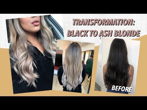 MY NEW HAIR! Black to Ash Blonde Balayage