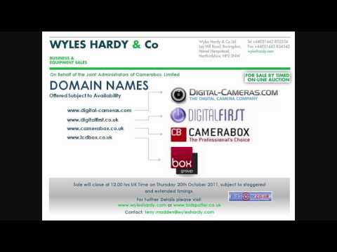 Domain Names For Sale by On-Line Auction 20/10/11 – visit: www.wyleshardy.com