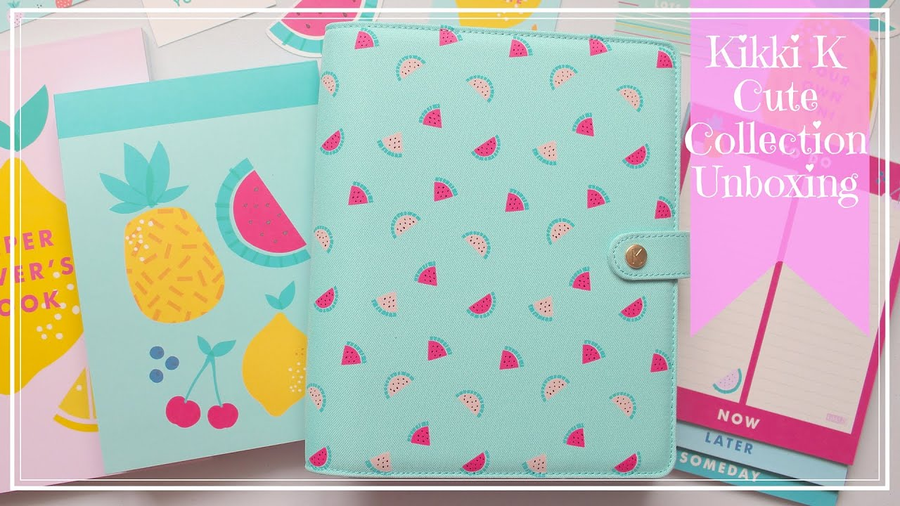 Unboxing: Kikki k Cute Planner & Cute collection Goodies - YouTube