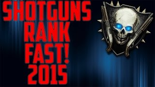 NEW AUGUST 2016!: HOW TO GET SHOTGUNS RANK IN CALL OF DUTY BLACK OPS 2 ZOMBIES FAST!