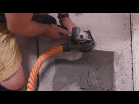 How to remove glue/epoxy/paint from concrete floors, DIY style.