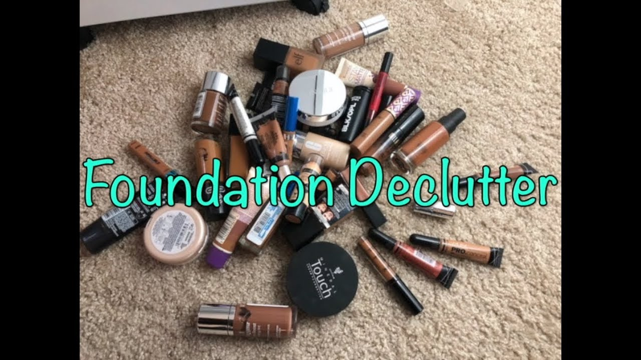 Foundation Declutter: Over 50 Foundations!