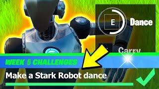 Make a Stark Robot Dance & ALL STARK ROBOT Locations - Fortnite Season 4 Week 5 Challenges