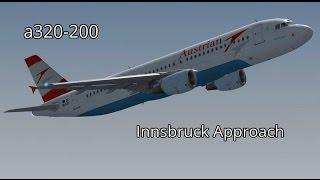 FSX   Landing in Innsbruck, Austria a320-200 Austrian