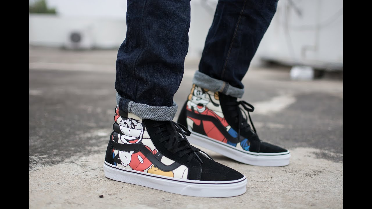 Disney Vans Sk8 Hi - Unboxing and On Feet Review - YouTube 4b44261d26