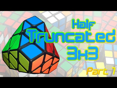 Stickering a Half Truncated Cube | Timelapse Part 1