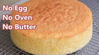 BASIC EGGLESS VANILLA CAKE VIDEO | HOW TO MAKE NO OVEN SPONGE CAKE | without condensed milk